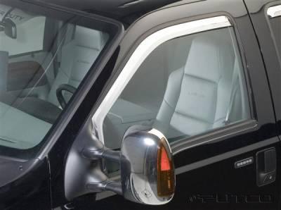 Accessories - Window Visors - Putco - Ford F250 Superduty Putco Element Chrome Window Visors - 480203