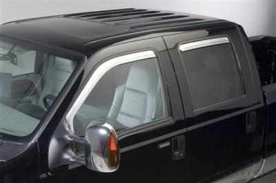 Accessories - Window Visors - Putco - Ford F250 Superduty Putco Element Chrome Window Visors - 480209