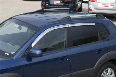 Accessories - Window Visors - Putco - Hyundai Tucson Putco Element Chrome Window Visors - 480257