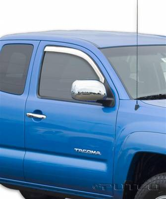 Accessories - Window Visors - Putco - Toyota Tacoma Putco Element Chrome Window Visors - 480301