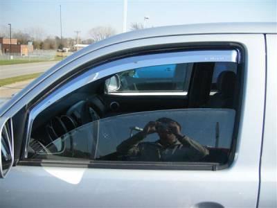 Accessories - Window Visors - Putco - Toyota Tacoma Putco Element Chrome Window Visors - 480302