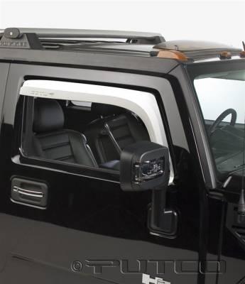Accessories - Window Visors - Putco - Hummer H2 Putco Element Chrome Window Visors - 480501