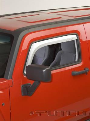 Accessories - Window Visors - Putco - Hummer H3 Putco Element Chrome Window Visors - 480504