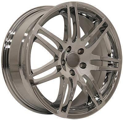 Wheels - Audi 4 Wheel Packages - EuroT - 18 580 Chrome - 4 Wheel Set