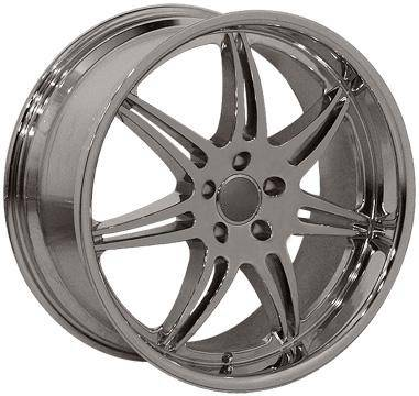 Wheels - Audi 4 Wheel Packages - EuroT - 20 Inch Chrome or Black - 4 Wheel Set
