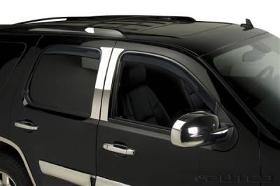 Accessories - Window Visors - Putco - GMC Sierra Putco Element Tinted Window Visors - 580058