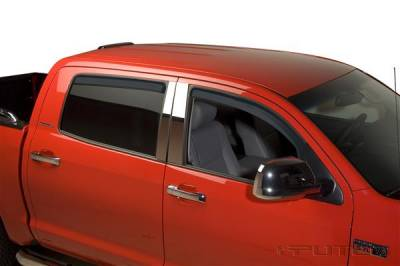 Accessories - Window Visors - Putco - Toyota Tundra Putco Element Tinted Window Visors - 580061