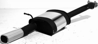 Exhaust - Mufflers - Remus - Ford Focus Remus Rear Silencer with Exhaust Tip - Square - 205003 0501