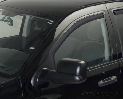 Accessories - Window Visors - Putco - Dodge Ram Putco Element Tinted Window Visors - 580177