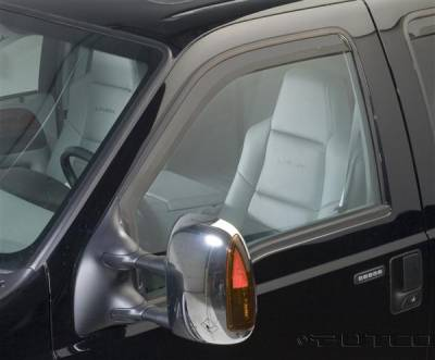 Accessories - Window Visors - Putco - Ford F250 Superduty Putco Element Tinted Window Visors - 580203