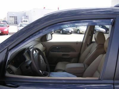 Accessories - Window Visors - Putco - Honda Pilot Putco Element Tinted Window Visors - 580401