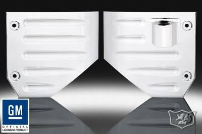 Suv Truck Accessories - Billet Accessories - Defenderworx - Hummer H2 Defenderworx Side Air Vents - Set of 2 - Chrome - H2PPC04010