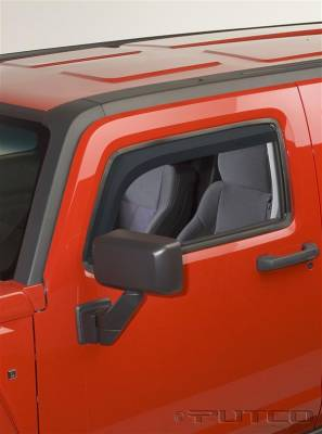 Accessories - Window Visors - Putco - Hummer H3 Putco Element Tinted Window Visors - 580504