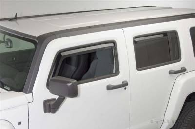 Accessories - Window Visors - Putco - Hummer H3 Putco Element Tinted Window Visors - 580505