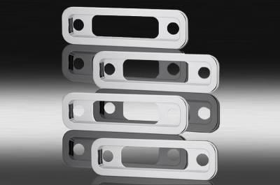 Suv Truck Accessories - Billet Accessories - Defenderworx - Hummer H2 Defenderworx Side Light Bezels - Smooth - Set of 4 - Chrome - H2PPC05008