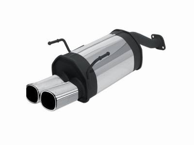 Exhaust - Mufflers - Remus - Honda Civic Remus Rear Silencer with Dual Exhaust Tips - Square - 256002 0502