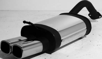 Exhaust - Mufflers - Remus - Toyota Corolla Remus Rear Silencer with Dual Exhaust Tips - Square - 905502 0502