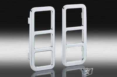 Suv Truck Accessories - Billet Accessories - Defenderworx - Hummer H2 Defenderworx Taillight Guard - Set of 2 - H2 - Chrome - H2PPC05022
