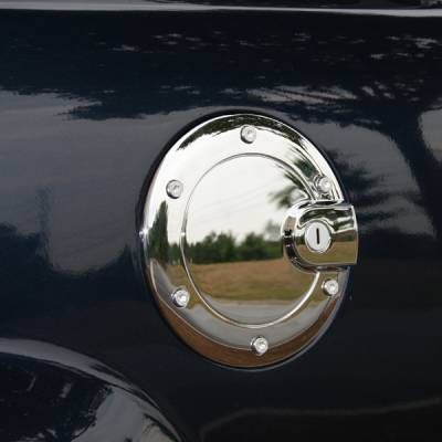 Accessories - Fuel Tank Caps - Omix - Omix Fuel Door Cover - Chrome - 13310-25