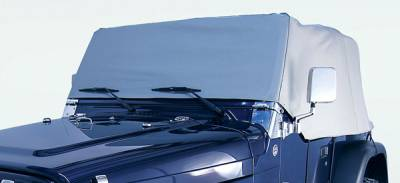 Accessories - Car Covers - Omix - Rugged Ridge Water Resistant Cab Cover - Vinyl - Gray - 13315-09