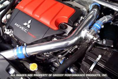 Performance Parts - Blow Off Valve - Greddy - Mitsubishi Lancer Greddy Intake Pipe Set with Blow-Off Valve - Aluminum - 12030915