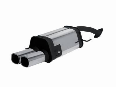 Exhaust - Mufflers - Remus - Mazda MX3 Remus Rear Silencer with Dual Exhaust Tips - Square - 454091 0502