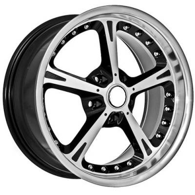 Wheels - BMW 4 Wheel Packages - Euro Styles - 820 Silver Black With Polished Lip