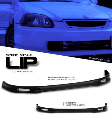 Accessories - Exterior Accessories - OptionRacing - Honda Civic Option Racing Bumper Lip - Spoon Style - 38-20122