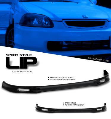 Accessories - Exterior Accessories - OptionRacing - Honda Civic Option Racing Bumper Lip - Spoon Style - 38-20123