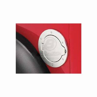 Accessories - Fuel Tank Caps - Omix - Omix Bestop Fuel Door - Brushed Aluminum - 43103-00