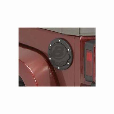 Accessories - Fuel Tank Caps - Omix - Omix Bestop Fuel Door - Black Aluminum - 43103-01