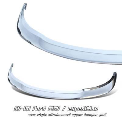 Accessories - Exterior Accessories - OptionRacing - Ford F150 Option Racing Upper Bumper Pad - 65-18177