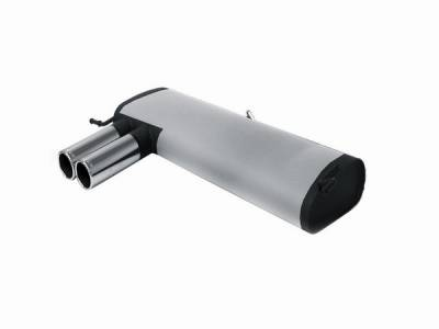 Exhaust - Mufflers - Remus - Audi S3 Remus Rear Silencer with Dual Exhaust Tips - Round - 045599 0504