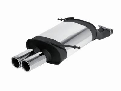 Exhaust - Mufflers - Remus - BMW Z3 Remus Rear Silencer with Dual Exhaust Tips - Round - 088000 0504