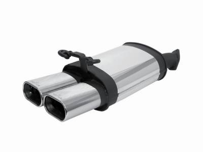Exhaust - Mufflers - Remus - Mercedes-Benz S Class 280SL Remus Rear Silencer with Dual Exhaust Tips - Square - 507093 0510