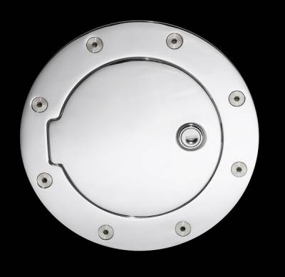 Accessories - Fuel Tank Covers - Pilot - Ford F-Series Pilot Chrome Gas Door - 1PC - GD-201C
