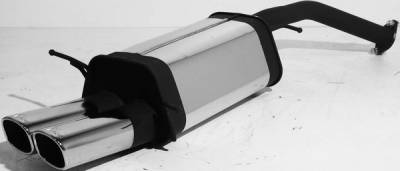 Exhaust - Mufflers - Remus - Ford Probe Remus Rear Silencer with Dual Exhaust Tips - Square - 207094 0542