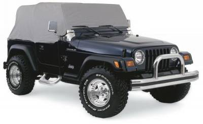 Accessories - Car Covers - Rampage - Jeep CJ7 Rampage Cab Cover - Water Resistant - Gray - 1159