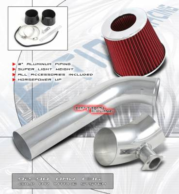Air Intakes - OEM - OptionRacing - BMW 3 Series Option Racing Cold Air Intake Pipe - Polish - 35-12116