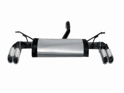 Exhaust - Mufflers - Remus - Volkswagen Touareg Remus Duplix Rear Silencer with Left with Right Sides with Dual Exhaust Tips - Round - Embossed - 958003 1578