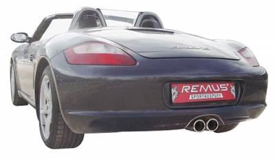 Exhaust - Mufflers - Remus - Porsche Cayman Remus Racing Rear Silencer System - 686006 1705