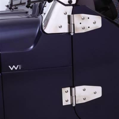 CJ7 - Doors - Rampage - Jeep CJ Rampage Door Hinges - for Full Steel Doors - Stainless - 7420
