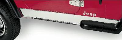 Wrangler - Body Armor - Rampage - Jeep Wrangler Rampage Rocker Panels - Stainless - 7453