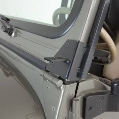 Wrangler - Body Kit Accessories - Rampage - Jeep Wrangler Rampage Windshield Hinge Light Brackets - Stainless - 7489
