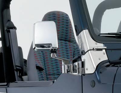Wrangler - Mirrors - Rampage - Jeep Wrangler Rampage Side Mirrors - Chrome - 7504
