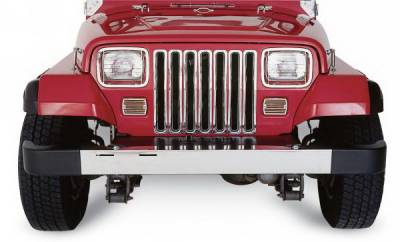 Grilles - Custom Fit Grilles - Rampage - Jeep Wrangler Rampage Grille Inserts - Chrome - 7509