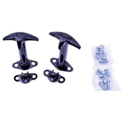 CJ6 - Hoods - Omix - Outland Hood Catch - Vertical Mount - Each - Black - 7601