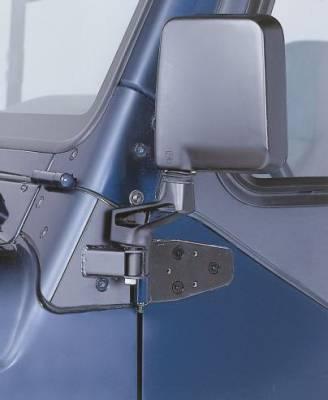 Wrangler - Mirrors - Rampage - Jeep Wrangler Rampage Mirror Relocation Brackets - Black - 8685