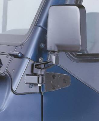 Wrangler - Mirrors - Rampage - Jeep Wrangler Rampage Mirror Relocation Brackets - Black - 8691