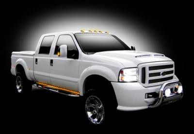 SUV Truck Accessories - Running Boards - Recon - Recon 48 Inch Big Rig LED Running Light Body Kit in Amber - 26413